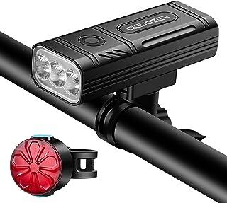 Aiguozer USB Rechargeable Bike Light, 3000 Lumens 3 LED...