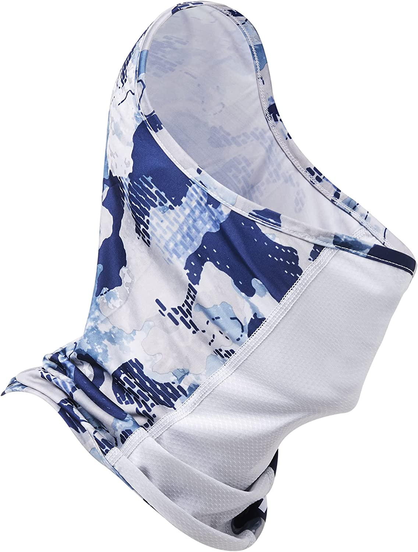 HUK Men's Standard Neck Gaiter   Face UPF 30+ Sun Protection, Refraction-Bluefin, OSFA
