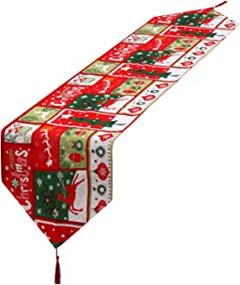 Camino de Mesa de Navidad Mantel Decorativo de Lino con