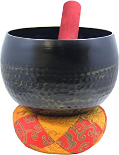 DharmaObjects Japanese Style Zen Buddhist Ring Gong Singing Bowl 6 Inches