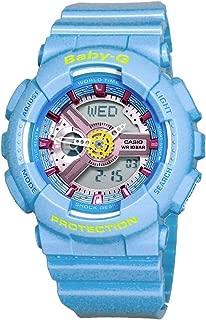 Casio Baby-G BA-110CA-2A Analog/Digital Light Blue Resin Ladies Sports Watch