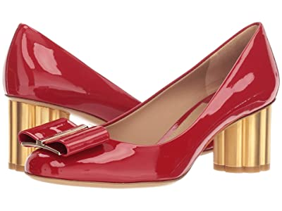 Salvatore Ferragamo 55 mm Capua Pump (Lipstick Patent) High Heels