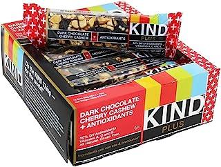 KIND Plus Dark Chocolate Cherry Cashew, 16.8 Oz (Pack Of 12)