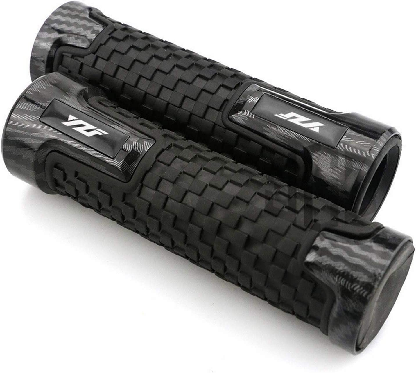 Pair Motorcycle Discount mail order Rubber Arlington Mall Carbon Plastic Y Handgrips Grips for Hand