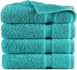 Indulge Linen 100% Turkish Cotton Towel Set (Aqua, Washcloths - Set of 4)