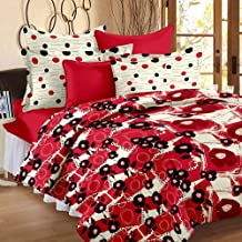 Story at Home Flat Double Bedsheet, Red, 235cm X 270cm, Vl1201