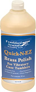 Frankford Arsenal Bottle of Ammonia-Free Quick-N-EZ Brass Polish for Tumbler and Reloading