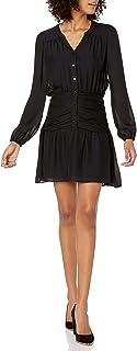 Parker womens Zee Long Sleeve Ruched Waist Dress Dress