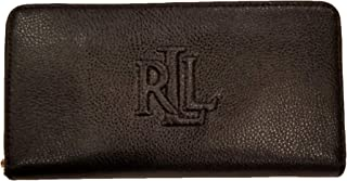 Lauren Ralph Lauren Women's Pebbled Leather Accordion Zip Around Wallet Clutch