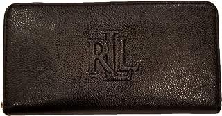 Women's Pebbled Leather Accordion Zip Around Wallet Clutch