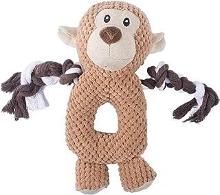 Petaste CWWJ005 Dog Squeaky Toy, Soft Plush Durable Toys with Inside Squeaker, Monkey