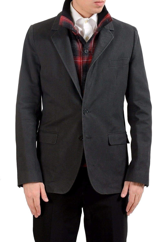 Dolce & Gabbana Men's Wool Gray Built-in Jacket Blazer Sport Coat US 38 IT 48