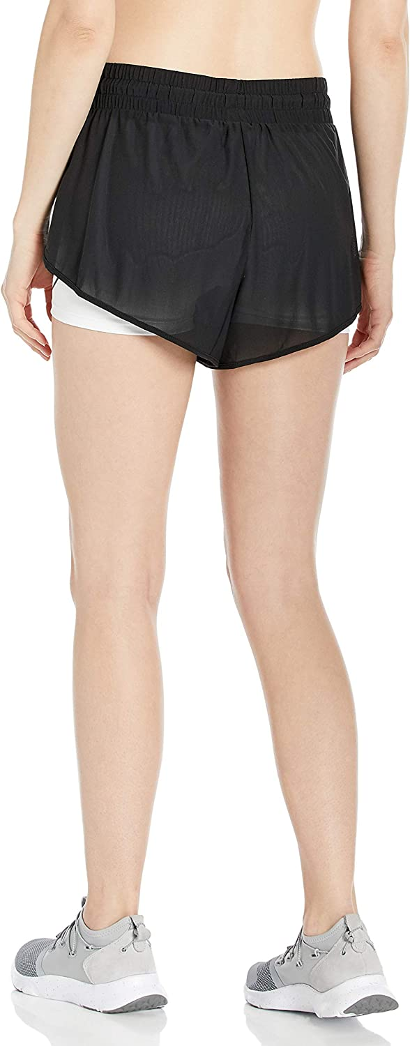 Body Glove Women's Pluto Loose Fit Mesh Activewear Short with Tight Undershort