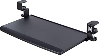 Stand Steady Clamp On Keyboard Tray | Keyboard Shelf - Small Size - Easy Install - No Need to Drill into Desk! Retractable...