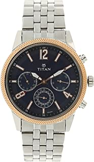 Workwear Men's Chronograph Watch - Quartz, Water Resistant, Gold/Stainless Steel/Leather Strap
