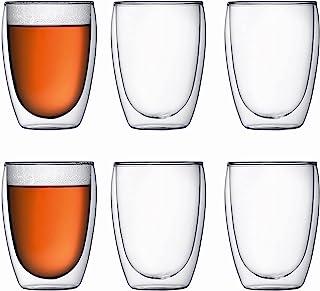 Bodum 4559-10-12 Pavina 6-delige glazenset (dubbelwandig, geïsoleerd, 0,35 liter) transparant