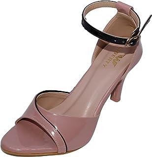W-Liberty Women's Comfortable & Fashionable Patent Leather Stilletos (Peach)