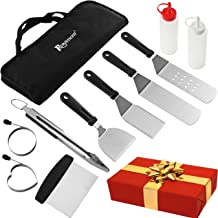 ROMANTICIST 11PC Griddle Accessories Kit with Carrying Bag - Restaurant Grade Griddle Spatula Set for Flat Top Grill Hibachi Cooking - Perfect BBQ Gift for Men Dad on Wedding Birthday