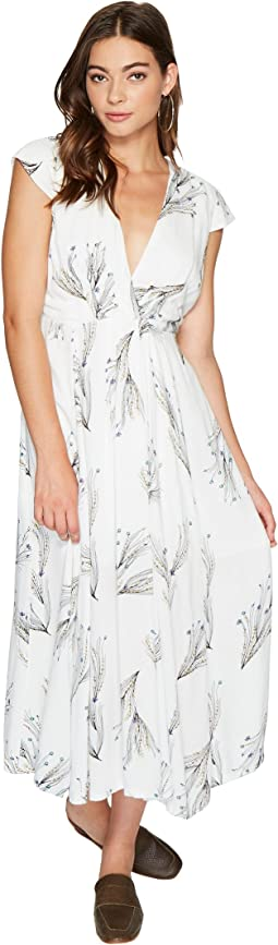 Printed Retro Midi Dress
