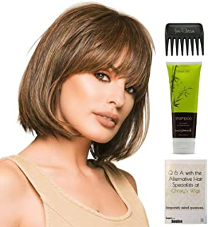 Bundle - 4 items: Classic Cut Wig by Raquel Welch, Christy's Wigs Q & A Booklet, BeautiMark Synthetic Shampoo & Wide Tooth Comb - Color: RL14/22