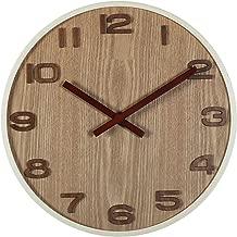 Wall Clock 3D Bentwood Silent Movement Wall Clock Modern Design for Living Room Large Wall Watch,35Cm,30Cm