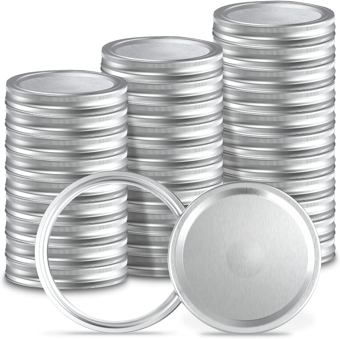 Canning Lids Wide Mouth with Bands Super-cheap 48Pcs Sets 24 for Fees free!! All