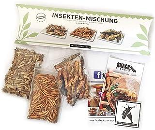 """Essbare Insekten Mischung von """"SNACK insects"""" - 25g Insekten zum Essen - Grillen, Heuschecken & Mehlwürmer"""