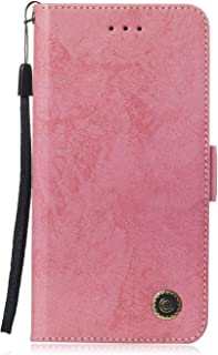 LARPOTE Nokia 6.1(2018), Wallet Case, Handmade Wallet Case Stand Cover Credit Card Protector for Nokia 6.1(2018)-Pink.