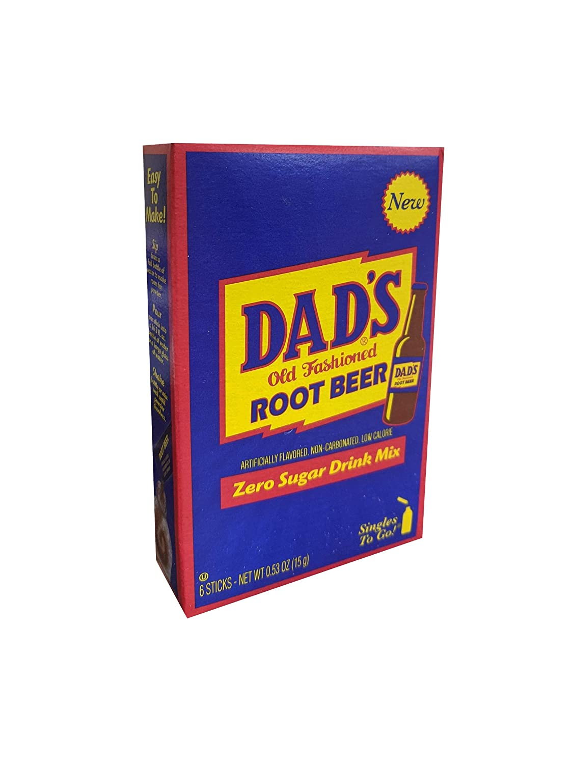 Dad's Old Fashion Rootbeer Singles To Go Drink Mix, 0.53 OZ, 6 CT (3)