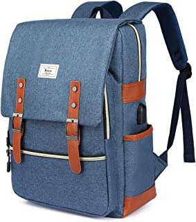 Ronyes Unisex College Bag Bookbag Fits up to 15.6'' Laptop Casual Rucksack School Backpack Daypacks (Blue)