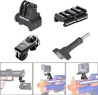 Kit de montaje de riel de pistola adaptador de riel para pistola Picatinny Nerf soporte para pistola de airsoftescopeta rifle pistola para cámara de acción GoPro 7/6/5/4/3+/3/Sesión Sony