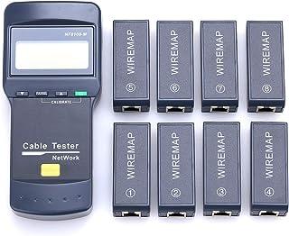 NF8108-M Digital Network Cable Length Tester Network Cable Tester 8 Meter Length Remote Units Cat5E/ 6E UTP STP CAT5 RJ45