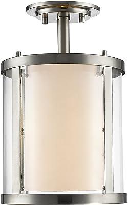 Amazon.com: Z-Lite 426sf Willow 3 lámpara de techo Semi ...