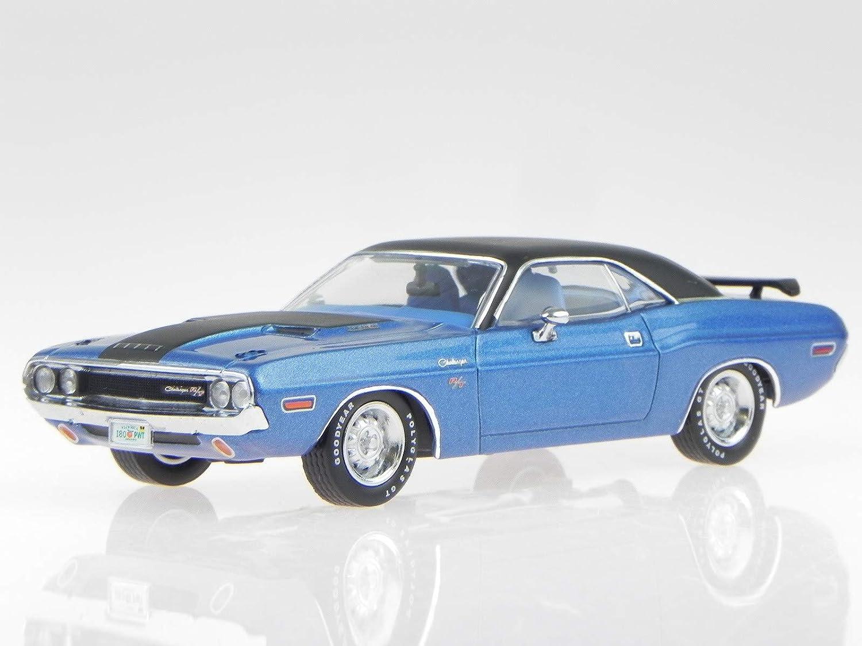 PremiumX Dodge Challenger R T 1970 blau Modellauto PRD406 1 43 B01FZ4RLDE Creative  | Schenken Sie Ihrem Kind eine glückliche Kindheit
