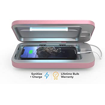 PhoneSoap 3 UV Smartphone Sanitizer & Universal Charger   Patented & Clinically Proven UV Light Disinfector   (Orchid)