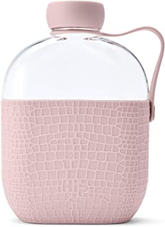 Hip 22 oz. Plastic Water Bottle with Silicone Sleeve - Dusty Pink