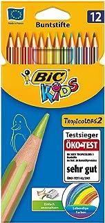Bic Kids Crayons de couleur Tropic 2crayons de couleurs assorties Étui Carton de 12