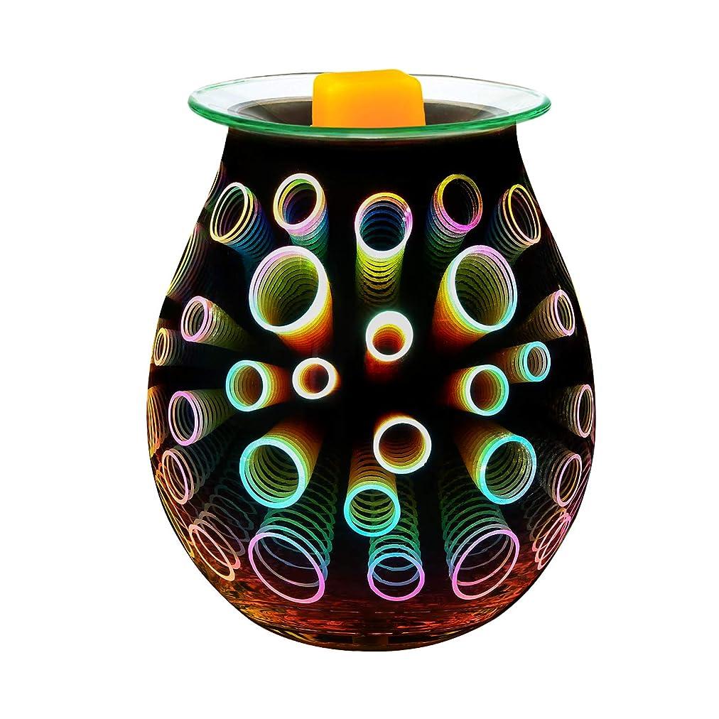 民族主義あざ悲劇COOSA Electric Oil Warmer、美しいガラスワックスTart Burner夜ライトアロマ装飾ランプwith 3d効果のGifts & Decor EL0717_US