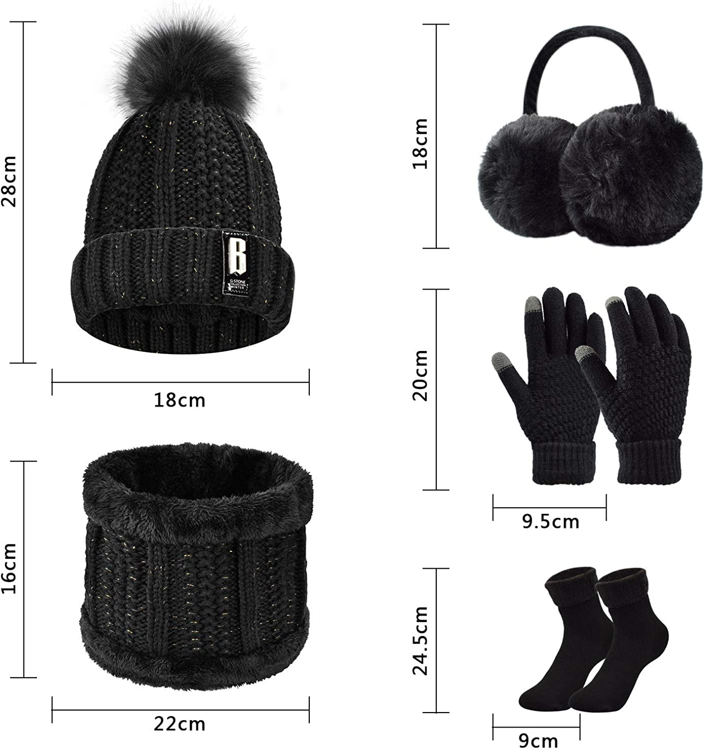 hats etc x Medium Size knitting bag ideal for projects such as socks scarves gloves