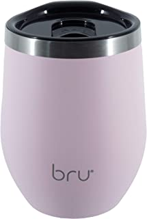 Reusable Coffee Cup | 12oz/340ml | Double Walled | Vacuum Insulated | Stainless Steel | Eco-Friendly Thermal Cup | bru (Pink Flamingo)