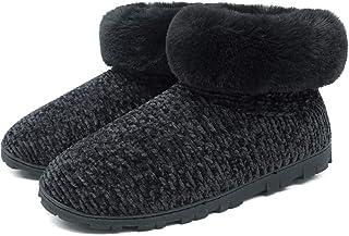ONCAI Zapatillas Casa Mujer,Espuma de Memoria Pantuflas Bota Mujer-Chenilla de Moda de Invierno Zapatillas Casa Bota-Exter...