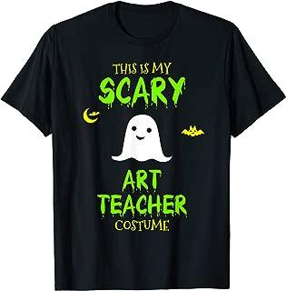 Scary Art Teacher Costume Halloween Lazy Easy T-Shirt
