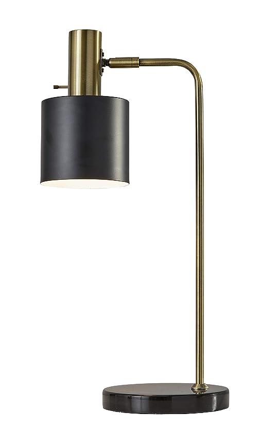 Adesso 3158-01 Emmett Desk Lamp, Antique Brass, Black