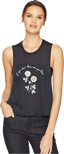 Don't Know Crop Tank Top