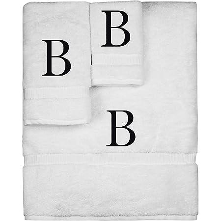 Bath Towel Set GIFT Monogrammed Towel Set USA Personalized 3 Piece Towel Set