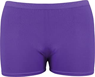 Onlyglobal New Ladies Girls Neon Lycra Stretchy Hot Pants Shorts Dance Fancy Dress Party
