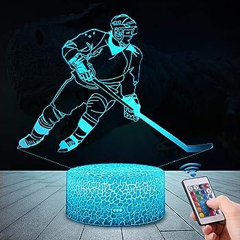 Qilitd 3d Eishockey Lampe Led Nachtlicht Mit Fernbedienung 16 Farben Wahlbar Dimmbare Touch Schalter Nachtlampe Geburtstag Geschenk Frohe Weihnachten Geschenke Fur Madchen Manner Frauen Kinder Amazon De Beleuchtung