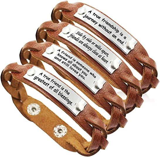 3. YOYONY Braided Leather Bracelets