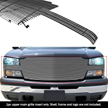 APS Compatible with 2003-2005 Silverado SS 1500 2003-2006 Avalanche Full Opening Billet Grille Grill Insert S18-A62058C
