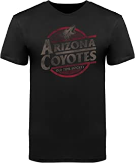 Old Time Hockey Arizona Coyotes Garment Dyed Coil Charcoal T-Shirt
